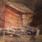 """Boathouse"", 12"" x 12"", oil, $675"